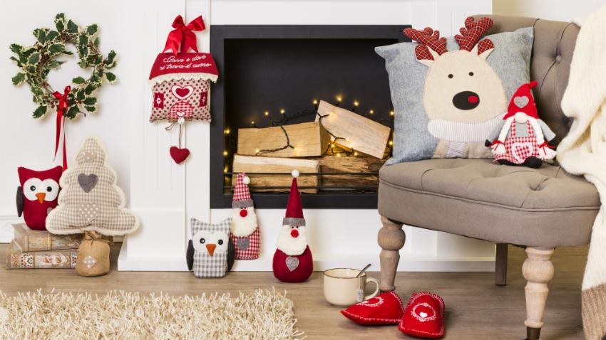 bellissime decorazioni natalizie in stoffa