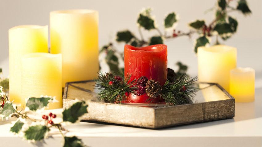 Decorazioni natalizie il meglio del natale dalani e ora - Decorazioni con candele ...