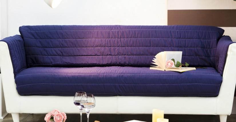 Copridivani stile e comfort in soggiorno westwing dalani e ora westwing - Copridivano angolare con cuscini fissi ...