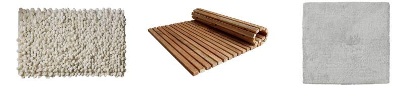 tappeti da bagno bambu e cotone