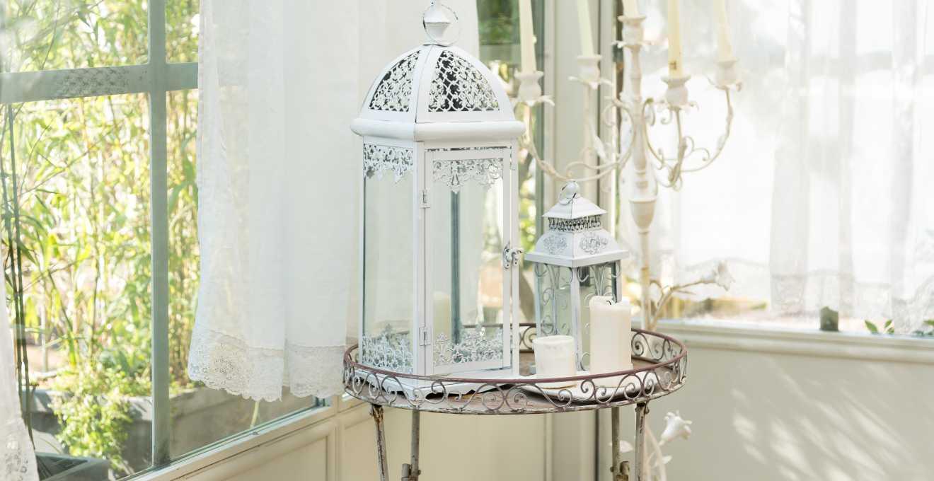 Lanterne in acciaio e vetro romanticismo antico dalani - Lanterne da interno ...