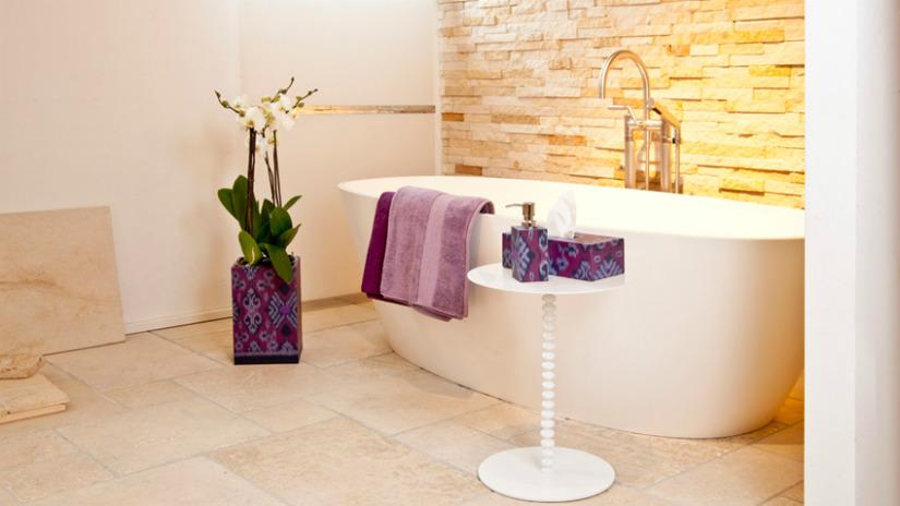 idee per il bagno vasca non incassata