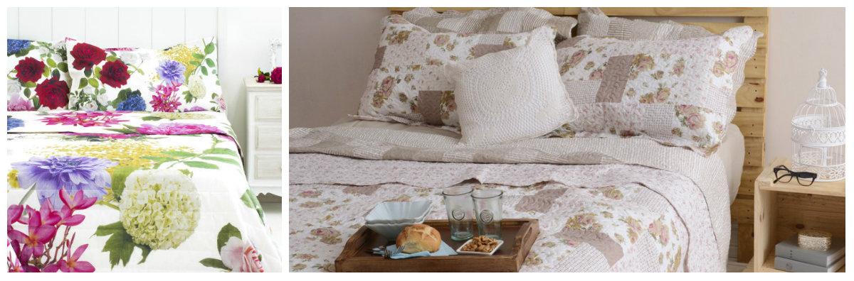 copriletto cuscini comodini vassoio letto