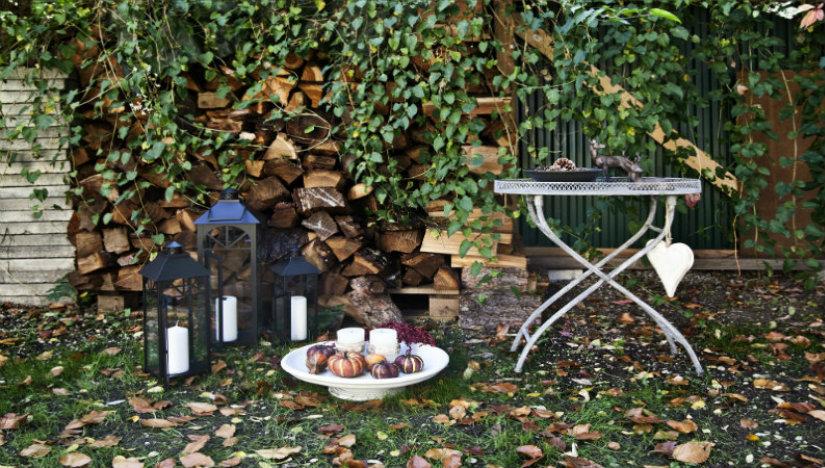 legnaia giardino tavolino in ferro candele