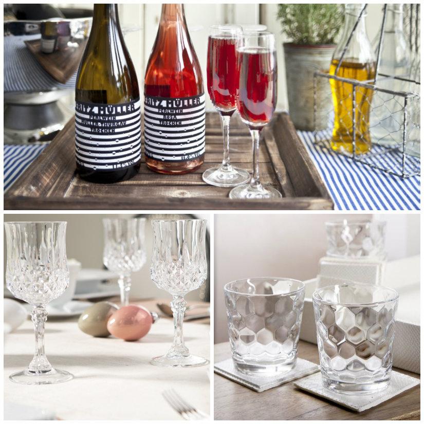 bicchieri da vino vassoio tovaglia bottiglia