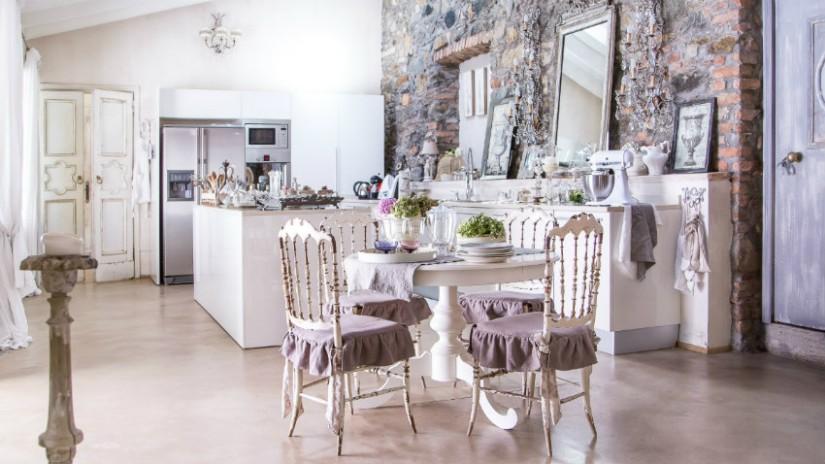 cucine shabby chic tavolo isola