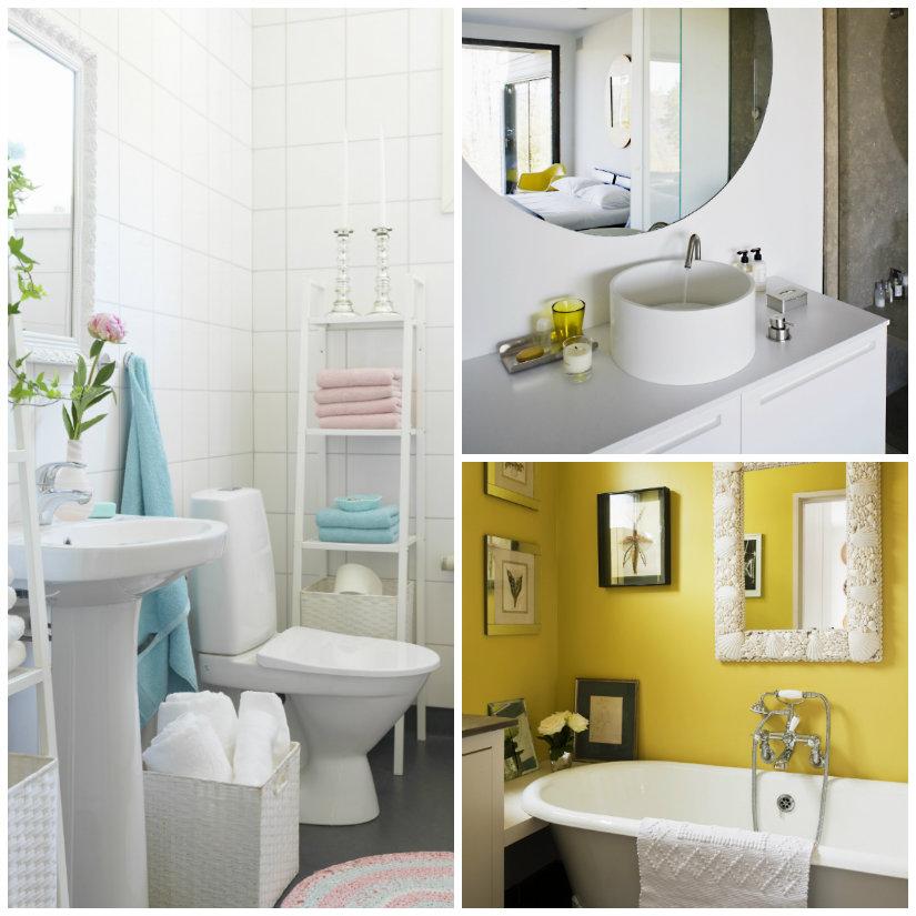 bagno piccolo lavabo vasca specchio
