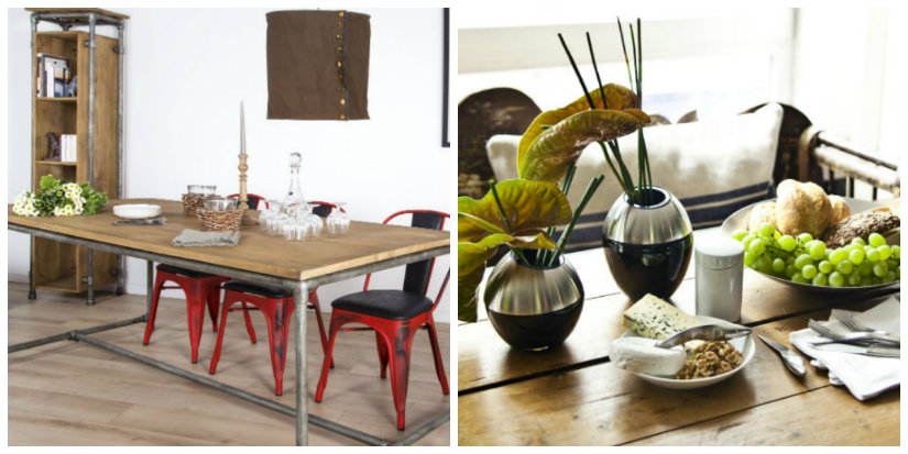 tavoli in legno in stile industriale