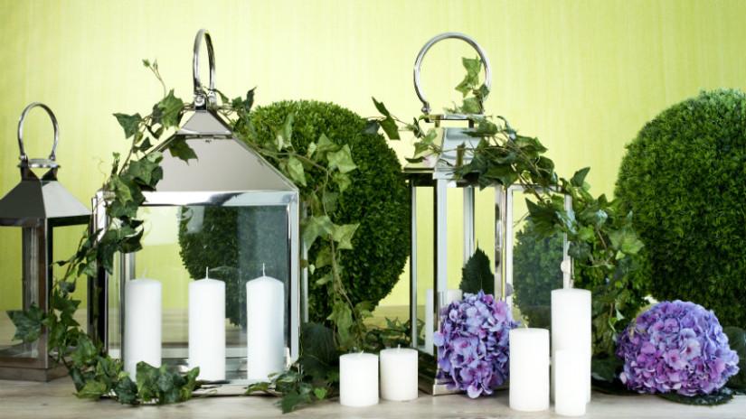 idee per il giardino torce e candele