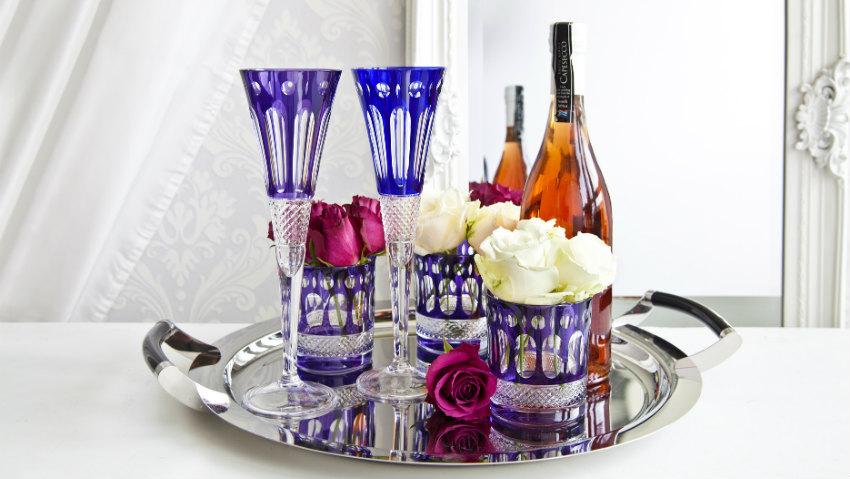set bicchieri colorati