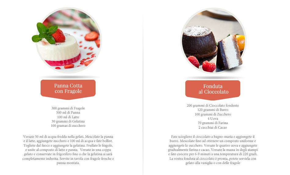 dessert cena romantica