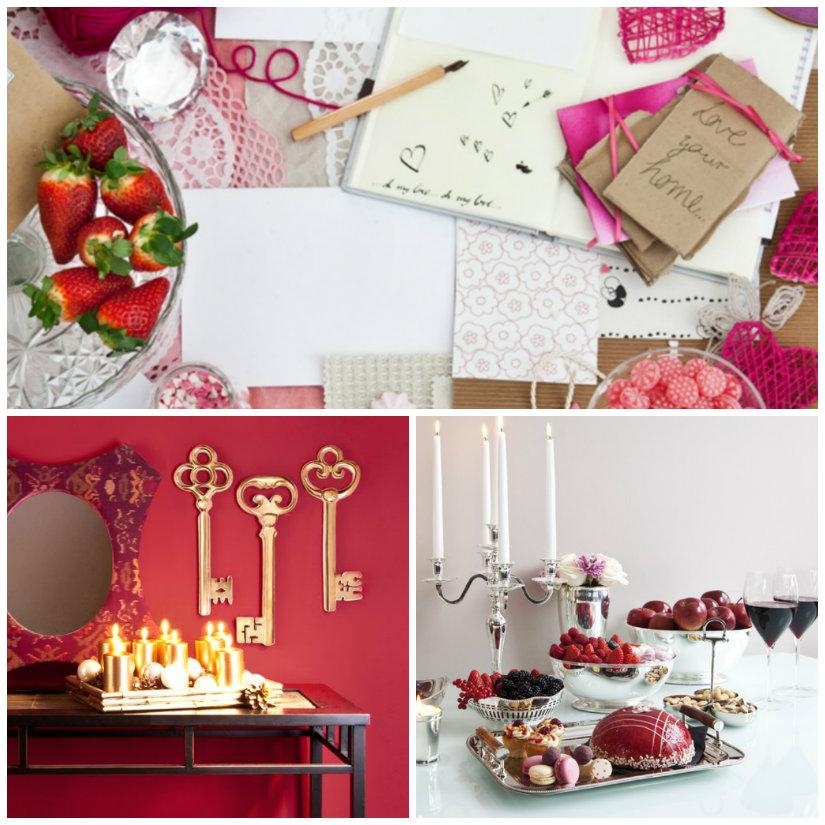 atmosfera romantica candele fragole cibo vino