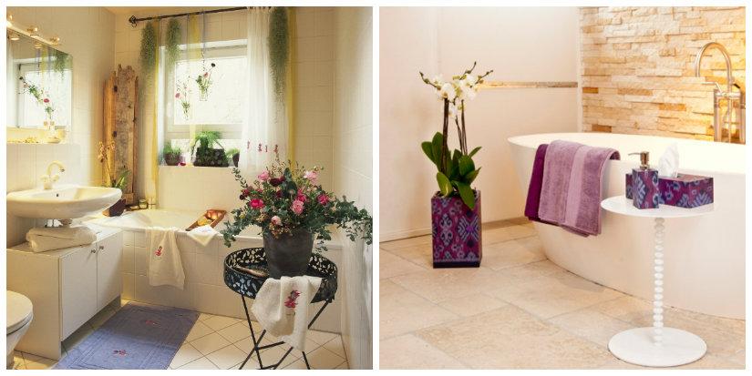 bagno romantico vasca asciugamani fiori