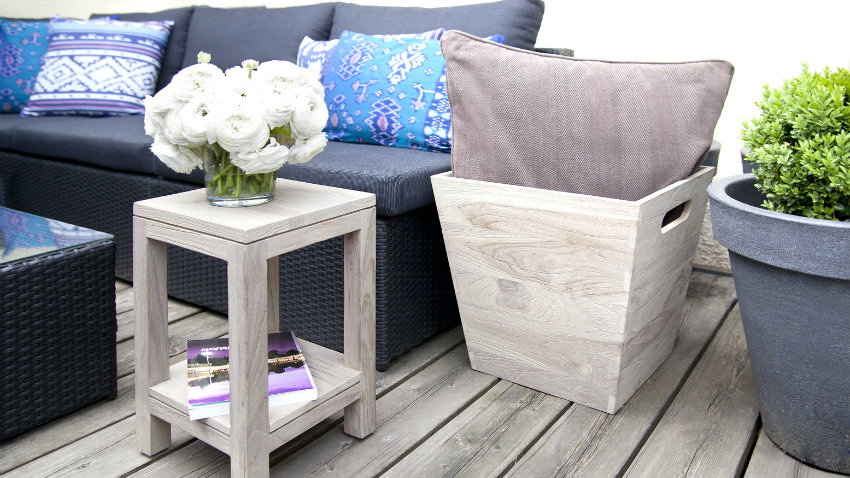 divano in rattan elegante