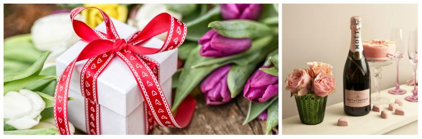 idee regalo per san valentino pacchetto calici champagne