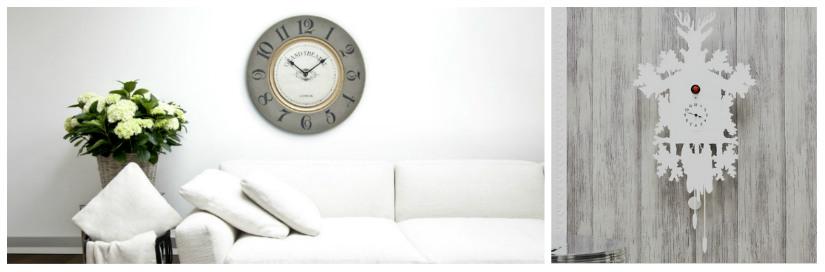 orologi da parete moderni divano bianco vaso