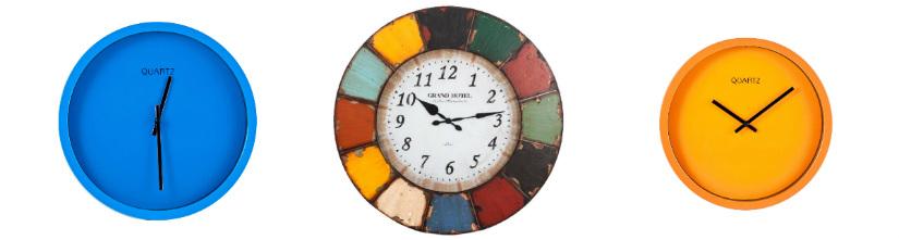 orologi da parete moderni in plastica colorati