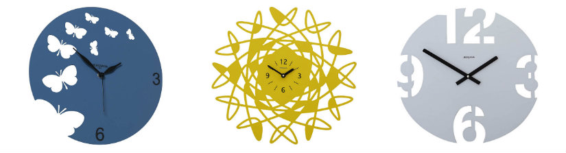 orologi da parete moderni creativi gialli blu grigio