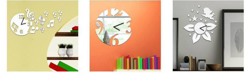 orologi da parete moderni in vetro eleganti