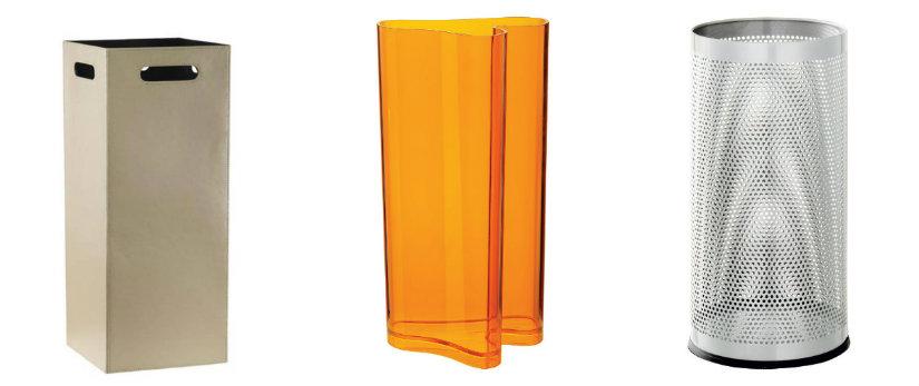 portaombrelli moderno in plexiglass plastica metallo