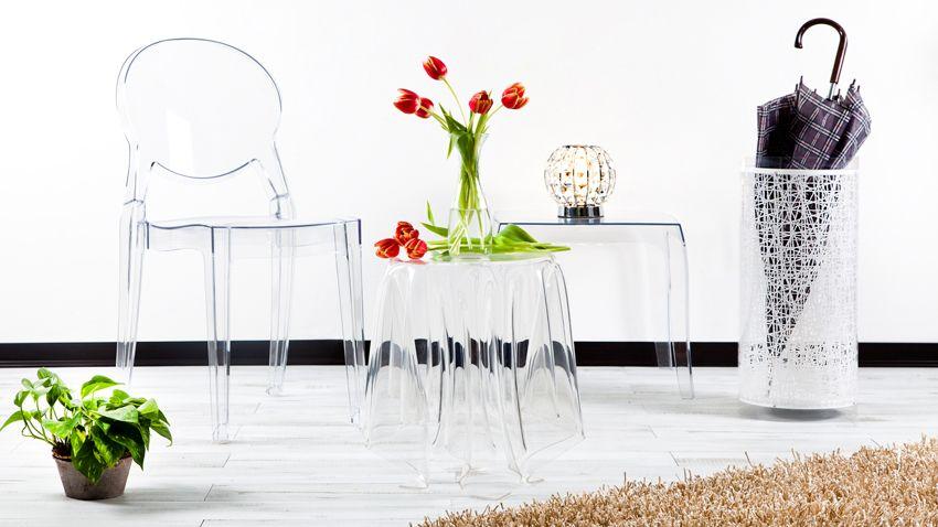 portaombrelli moderno sedie tavolino in plexiglass
