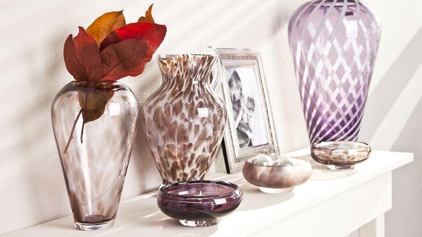 vaso in vetro cornice