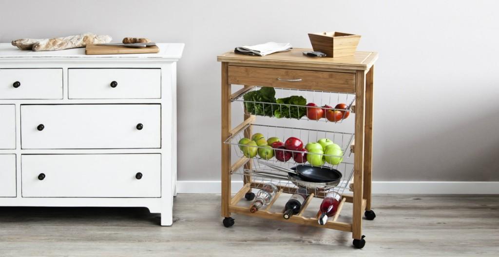 dalani | tavolino con ruote: funzionalità e comfort - Tavolino Cucina