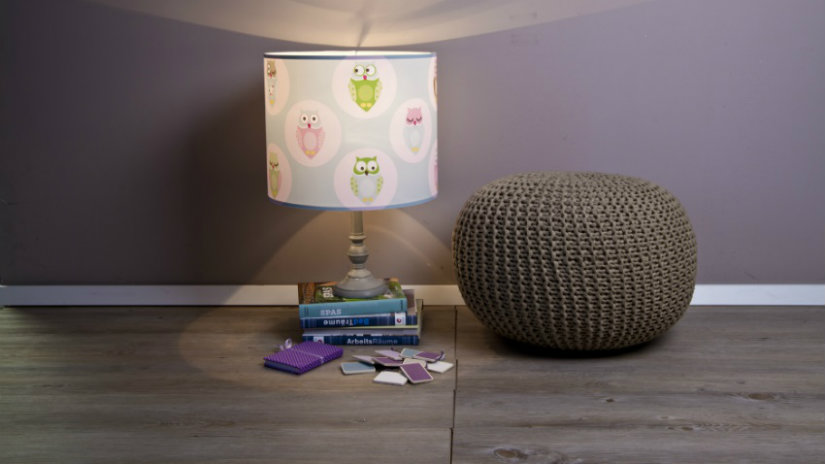 lampade per bambini pouf in tessuto
