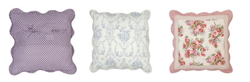 Cuscini trapuntati soffici dettagli casalinghi dalani e - Federe cuscini divano ...