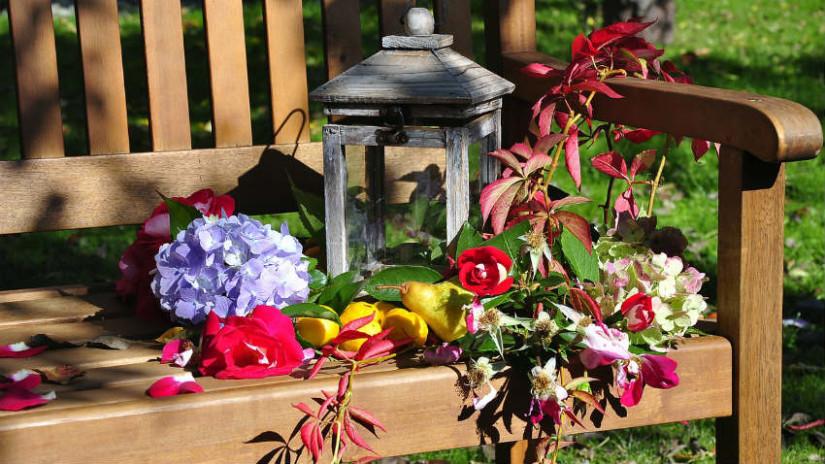 Cuscino per panche eleganza in giardino dalani e ora - Panchine da giardino ikea ...