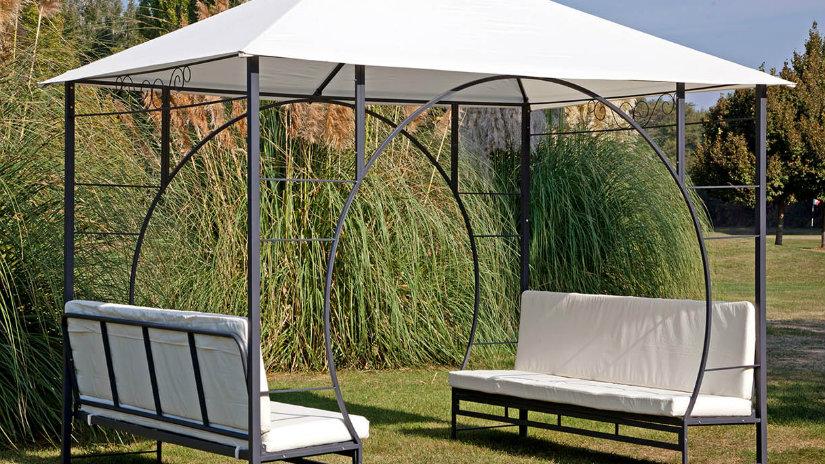 Gazebo fresco riparo per il vostro giardino dalani e ora westwing - Gazebo terrazzo vento ...