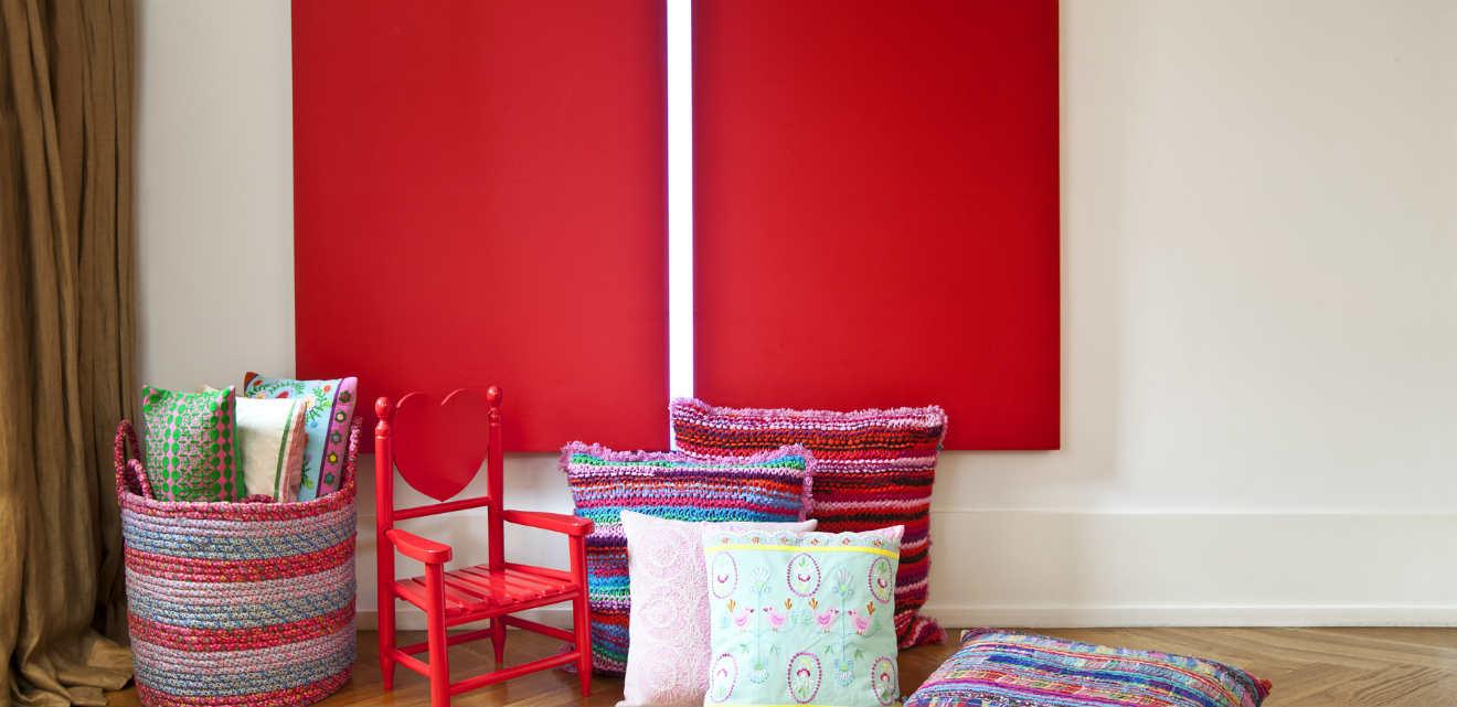 divano letto rosso