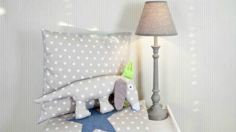 lampade per bambini paralume in tessuto