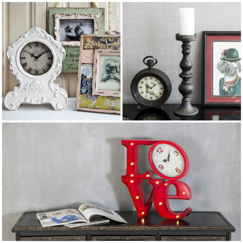 orologi da tavolo shabby vintage design