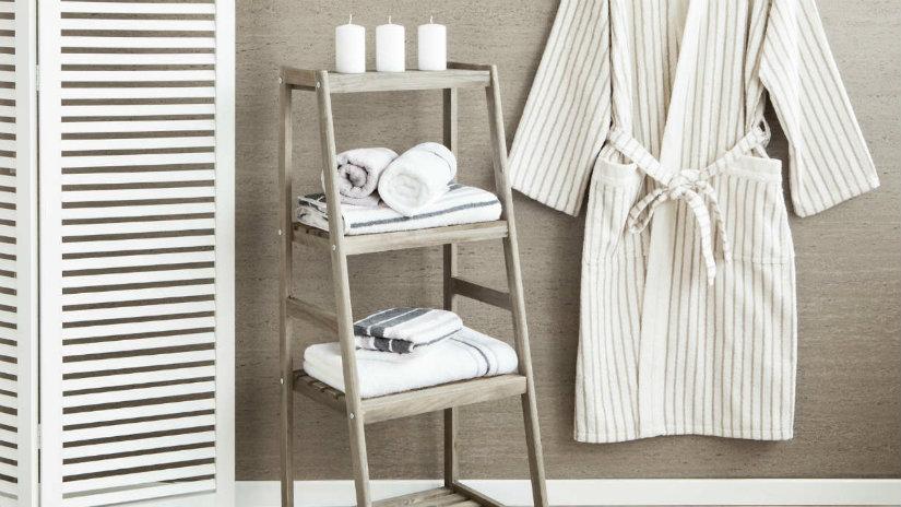paravento in legno per il bagno
