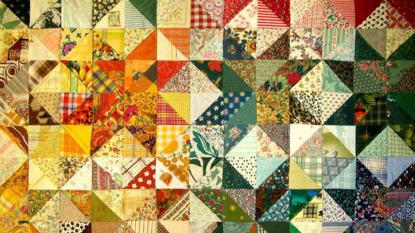 tessuto patchwork copriletto quilt americano