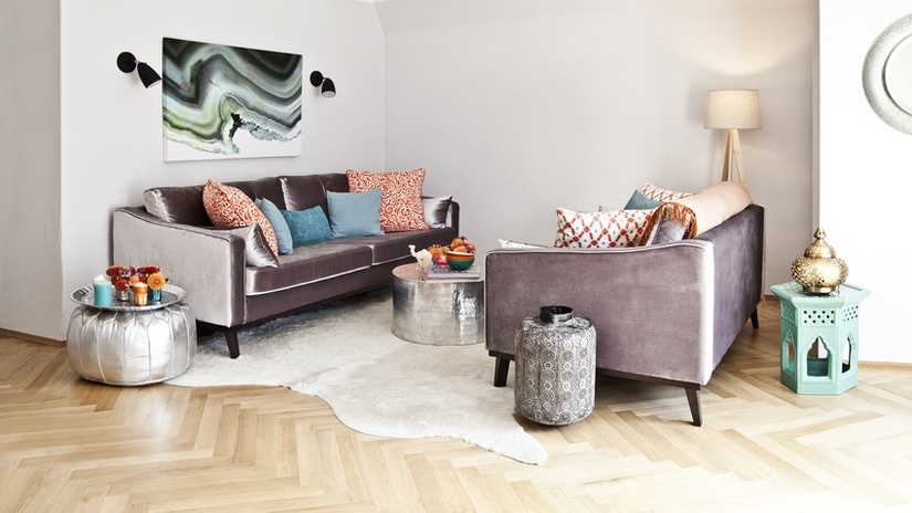 quadri astratti soggiorno glamour