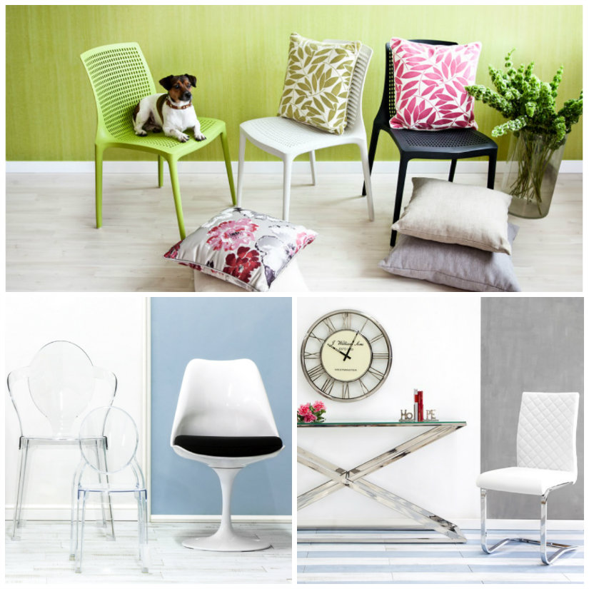sedie moderne console cuscini tappeto