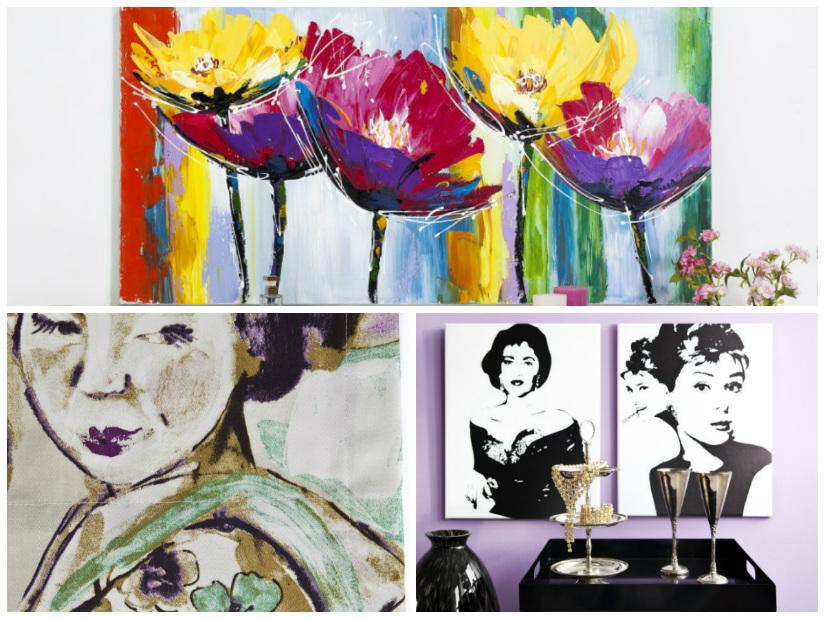 stampe moderne fiori stilizzati