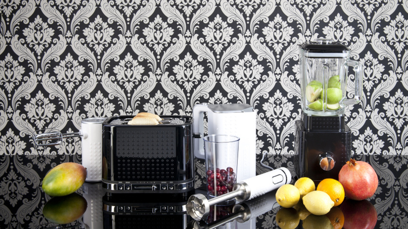 bollitore per latte frullatore cucina moderna