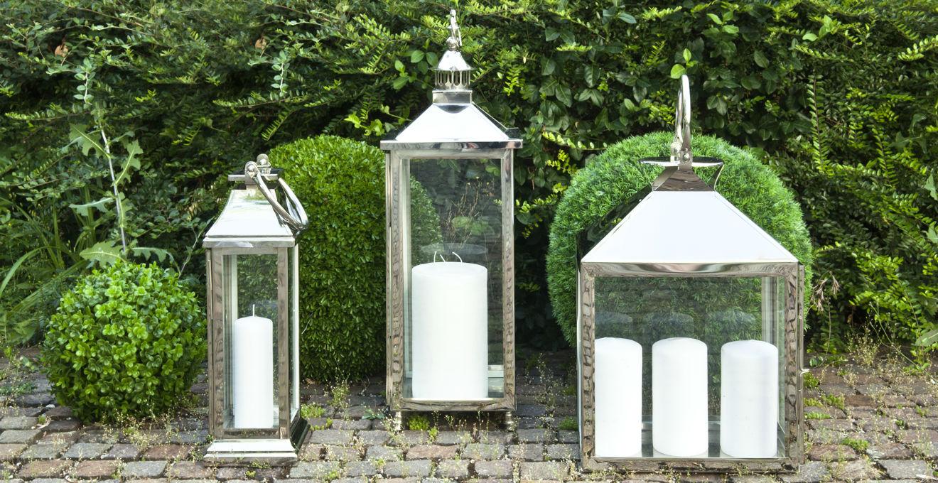 Portacandele Da Giardino : Candele da esterno magia di luci in giardino dalani e ora westwing
