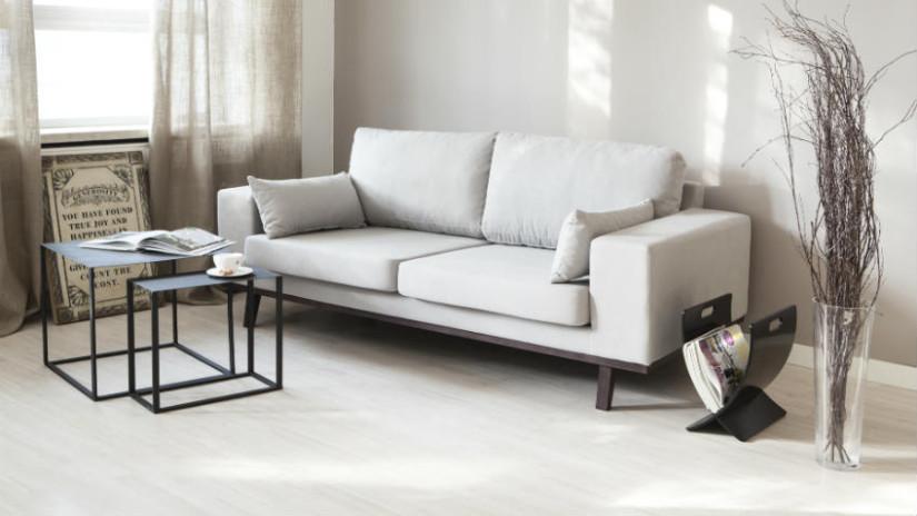 divano reclinabile in tessuto, soggiorno contemoraneo, stile scandinavo