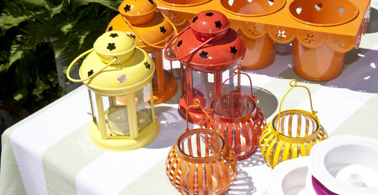 Lanterne grandi illuminare il giardino di colori dalani - Lanterne da interno ...