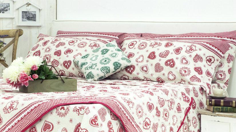 lenzuola tirolesi letto cuscini
