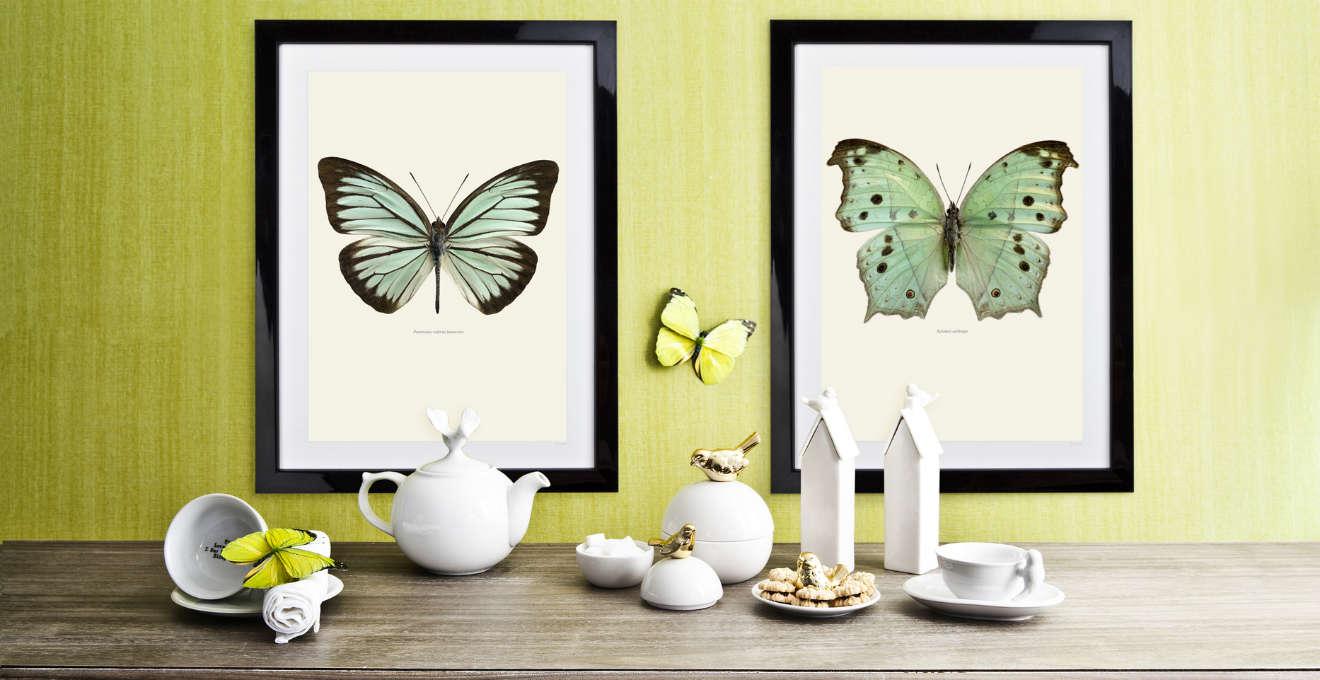 Orologi da parete con farfalle