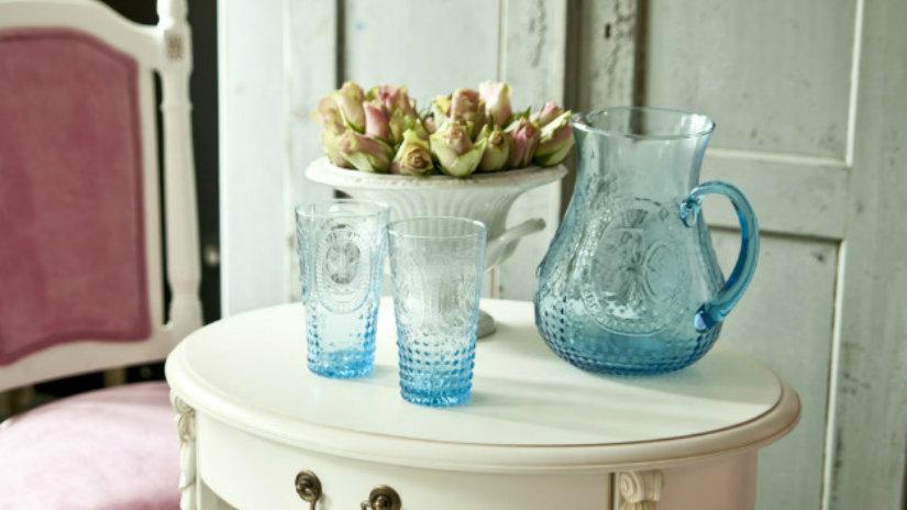 brocca antica bicchieri tavolino