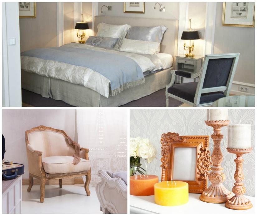camera da letto in stile barocco poltrona cornice