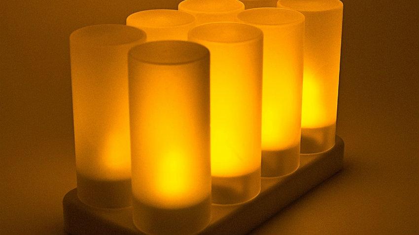 candele a led a luce calda