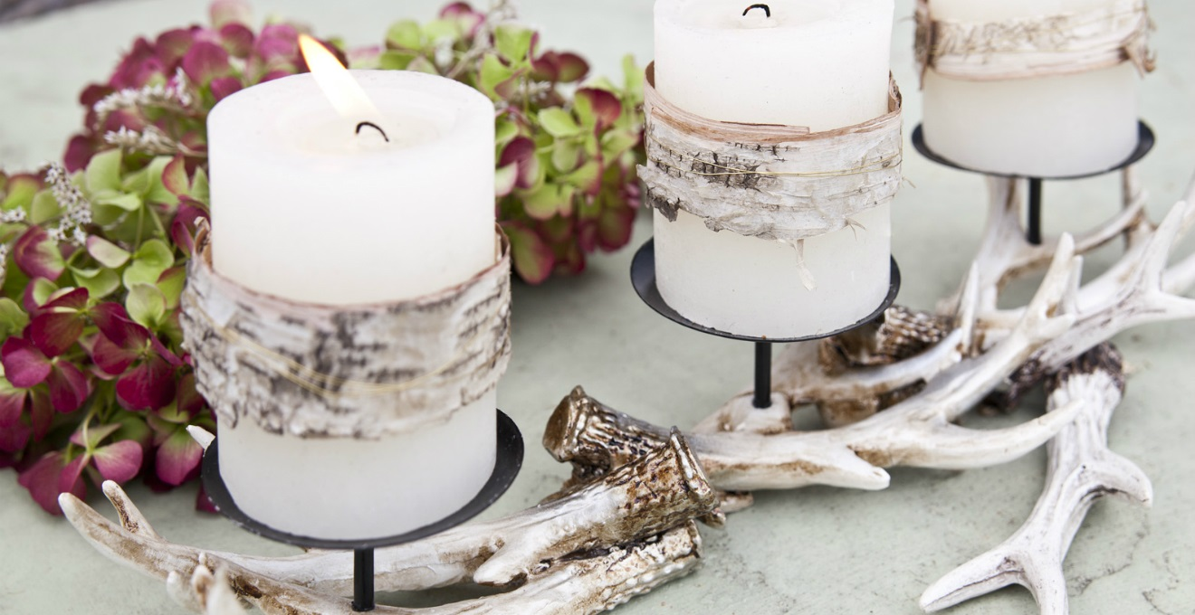 Centrotavola con candele amore per i dettagli dalani e for Decorazioni piatti gourmet