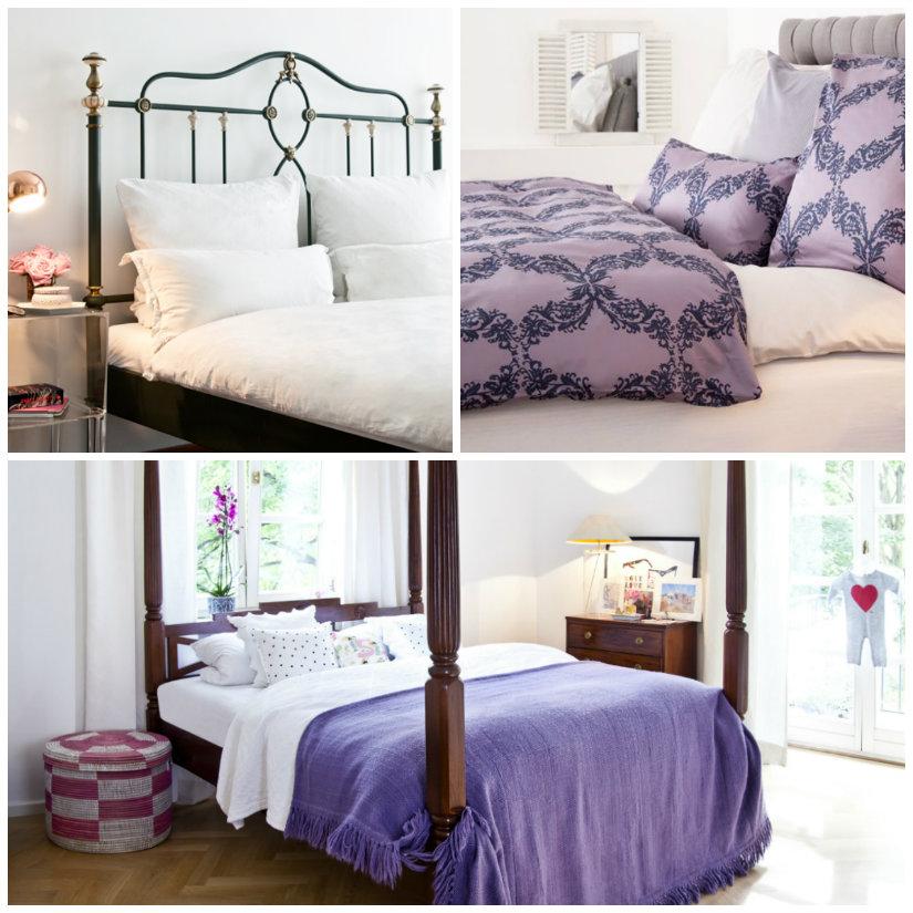 idee per la camera da letto letto baldacchino comodini